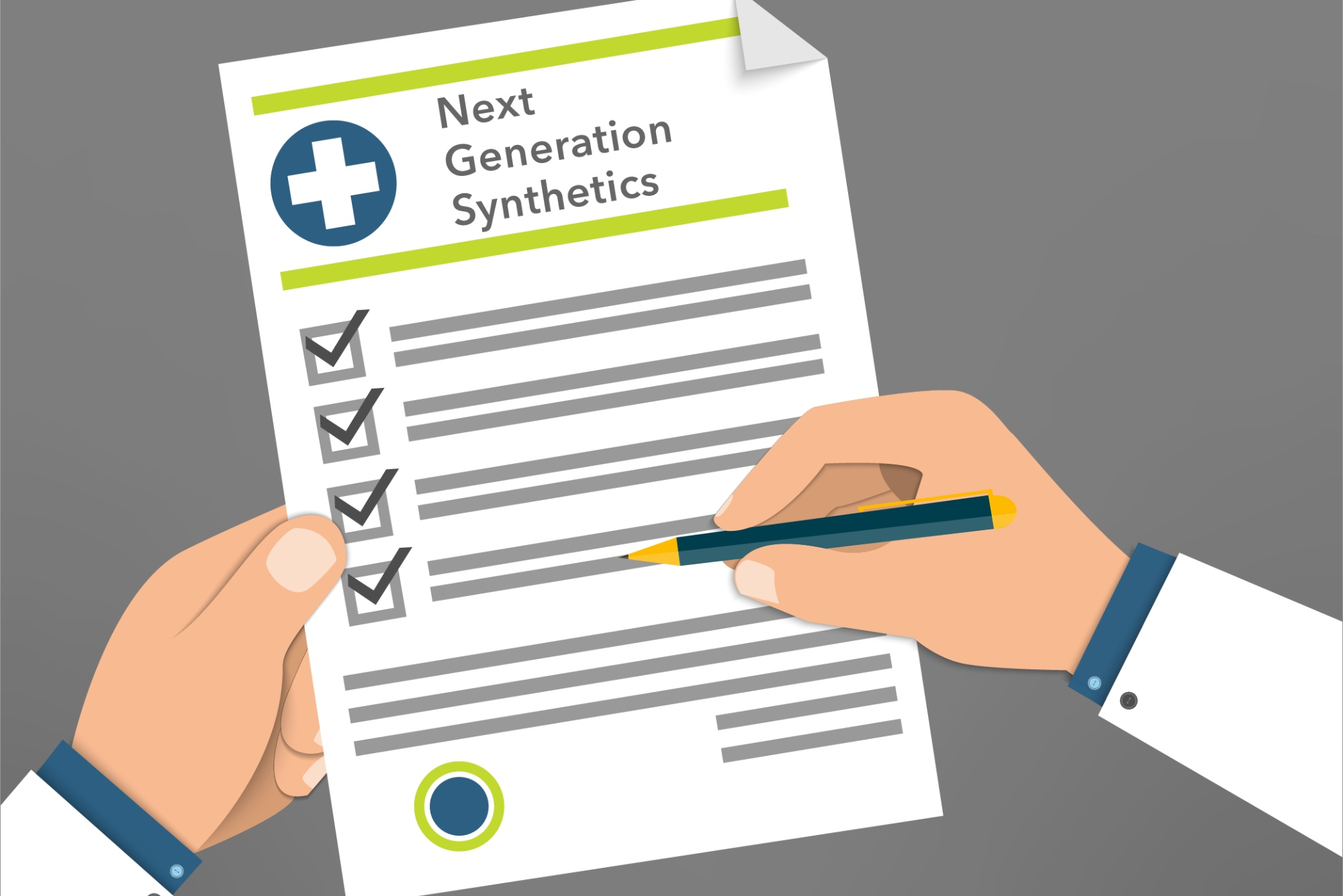 Doctor Reviews Checklist Of Benefits Of Next Generation Synthetic Bone Grafts.