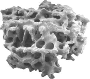 Bone graft granule with biomimetic porosity